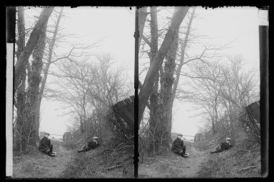 Daniel Berry Austin (American, born 1863, active 1899-1909). Hunt's Lane, Ralph and Marshall, Rustic Gable, Looking North West, Foot 62nd Street, Bay Ridge, Brooklyn, ca. 1899-1909. Gelatin silver glass dry plate negative Brooklyn Museum, Brooklyn Museum/Brooklyn Public Library, Brooklyn Collection, 1996.164.1-70