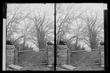 Daniel Berry Austin (American, born 1863, active 1899-1909). Hunt's Lane, Ralph and Marshall, Rustic Gable, Looking South East, Foot 62 Street, Bay Ridge, Brooklyn, ca. 1899-1909. Gelatin silver glass dry plate negative Brooklyn Museum, Brooklyn Museum/Brooklyn Public Library, Brooklyn Collection, 1996.164.1-71