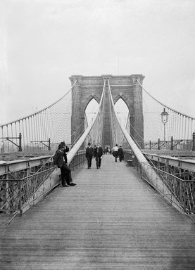 Daniel Berry Austin (American, born 1863, active 1899-1909). Brooklyn Bridge, Looking East, New York City Side, July 7, 1899. Glass plate negative, 5 x 7 in. (12.7 x 17.8 cm). Brooklyn Museum, Brooklyn Museum/Brooklyn Public Library, Brooklyn Collection, 1996.164.1-973