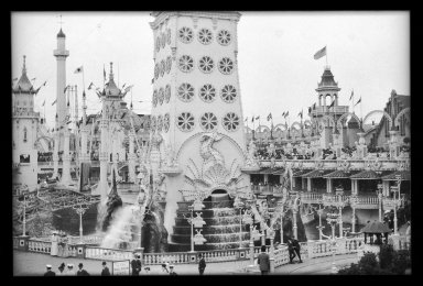 Eugene Wemlinger. Luna Park, 1908. Cellulose nitrate negative Brooklyn Museum, Brooklyn Museum/Brooklyn Public Library, Brooklyn Collection, 1996.164.10-17