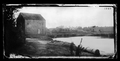 George Bradford Brainerd (American, 1845-1887). Mill on Inlet, Mattituck, Long Island, ca. 1872-1887. Collodion silver glass wet plate negative Brooklyn Museum, Brooklyn Museum/Brooklyn Public Library, Brooklyn Collection, 1996.164.2-1083