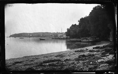 George Bradford Brainerd (American, 1845-1887). Shore, Northport, Long Island, ca. 1872-1887. Collodion silver glass wet plate negative Brooklyn Museum, Brooklyn Museum/Brooklyn Public Library, Brooklyn Collection, 1996.164.2-108