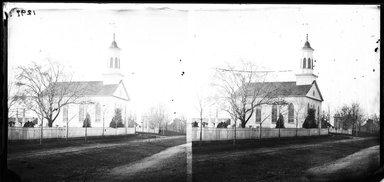 George Bradford Brainerd (American, 1845-1887). Church, New Lots, Brooklyn, November 16, 1874. Collodion silver glass wet plate negative Brooklyn Museum, Brooklyn Museum/Brooklyn Public Library, Brooklyn Collection, 1996.164.2-1297