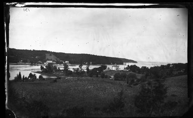 George Bradford Brainerd (American, 1845-1887). Harbor from Hill, Centerport, Long Island, ca. 1872-1887. Collodion silver glass wet plate negative Brooklyn Museum, Brooklyn Museum/Brooklyn Public Library, Brooklyn Collection, 1996.164.2-131