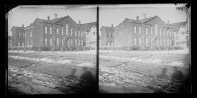 George Bradford Brainerd (American, 1845-1887). Public School No. 9, Brooklyn, ca. 1872-1887. Collodion silver glass wet plate negative Brooklyn Museum, Brooklyn Museum/Brooklyn Public Library, Brooklyn Collection, 1996.164.2-1331