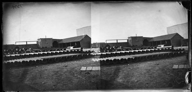 George Bradford Brainerd (American, 1845-1887). Pipe Yard, Gowanus, Brooklyn, March 30, 1874. Collodion silver glass wet plate negative Brooklyn Museum, Brooklyn Museum/Brooklyn Public Library, Brooklyn Collection, 1996.164.2-1334