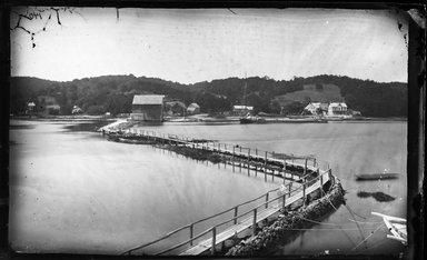 George Bradford Brainerd (American, 1845-1887). Mill Dam, Centerport, Long Island, ca. 1872-1887. Collodion silver glass wet plate negative Brooklyn Museum, Brooklyn Museum/Brooklyn Public Library, Brooklyn Collection, 1996.164.2-140
