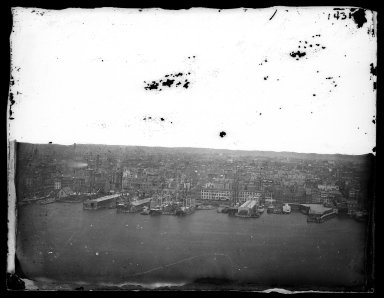 George Bradford Brainerd (American, 1845-1887). From the Bridge Tower, Brooklyn, ca. 1872-1887. Collodion silver glass wet plate negative Brooklyn Museum, Brooklyn Museum/Brooklyn Public Library, Brooklyn Collection, 1996.164.2-1431