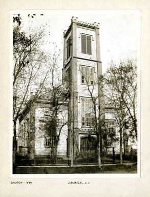 George Bradford Brainerd (American, 1845-1887). Church, Jamaica, ca. 1872-1887. Collodion silver glass wet plate negative Brooklyn Museum, Brooklyn Museum/Brooklyn Public Library, Brooklyn Collection, 1996.164.2-1481