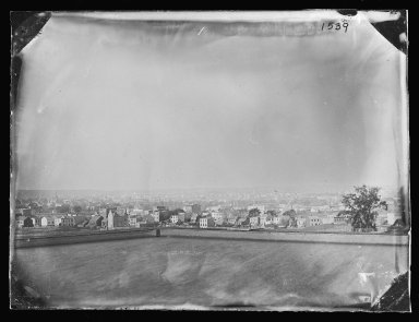George Bradford Brainerd (American, 1845-1887). From Mountain, Looking East, Prospect Park, Brooklyn, ca. 1872-1887. Collodion silver glass wet plate negative Brooklyn Museum, Brooklyn Museum/Brooklyn Public Library, Brooklyn Collection, 1996.164.2-1539