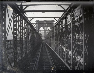 George Bradford Brainerd (American, 1845-1887). Bridge from Train, Brooklyn, NY, ca. 1872-1887. Glass plate negative, 3 1/4 x 4 1/4 in. (8.3 x 10.8 cm). Brooklyn Museum, Brooklyn Museum/Brooklyn Public Library, Brooklyn Collection, 1996.164.2-1606