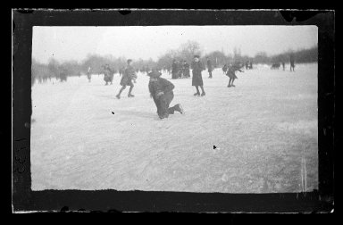 George Bradford Brainerd (American, 1845-1887). Skating, Prospect Park, Brooklyn, January 31, 1877. Collodion silver glass wet plate negative Brooklyn Museum, Brooklyn Museum/Brooklyn Public Library, Brooklyn Collection, 1996.164.2-1735