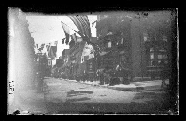 George Bradford Brainerd (American, 1845-1887). Columbia Street, Brooklyn, ca. 1872-1887. Collodion silver glass wet plate negative Brooklyn Museum, Brooklyn Museum/Brooklyn Public Library, Brooklyn Collection, 1996.164.2-1781