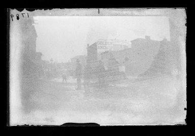 George Bradford Brainerd (American, 1845-1887). Building Laborers in Flatbush Avenue, Brooklyn, ca. 1872-1887. Collodion silver glass wet plate negative Brooklyn Museum, Brooklyn Museum/Brooklyn Public Library, Brooklyn Collection, 1996.164.2-1789