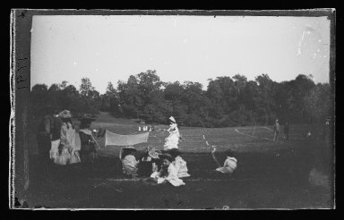 George Bradford Brainerd (American, 1845-1887). Lawn Tennis, Prospect Park, Brooklyn, ca. 1872-1887. Collodion silver glass wet plate negative Brooklyn Museum, Brooklyn Museum/Brooklyn Public Library, Brooklyn Collection, 1996.164.2-1791
