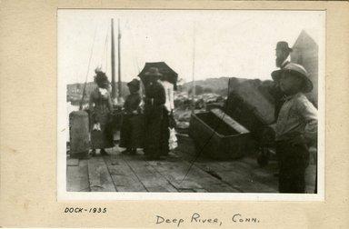 George Bradford Brainerd (American, 1845-1887). Dock, Deep River, Connecticut, ca. 1885. Dry negative plate Brooklyn Museum, Brooklyn Museum/Brooklyn Public Library, Brooklyn Collection, 1996.164.2-1935