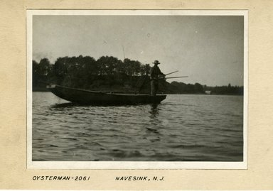 George Bradford Brainerd (American, 1845-1887). Oysterman, Navesink, New Jersey, ca. 1885. Dry negative plate Brooklyn Museum, Brooklyn Museum/Brooklyn Public Library, Brooklyn Collection, 1996.164.2-2061