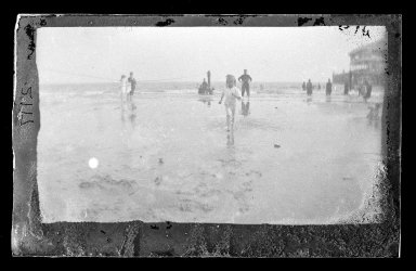 George Bradford Brainerd (American, 1845-1887). Little Wader, Coney Island, Brooklyn, ca. 1885. Dry negative plate Brooklyn Museum, Brooklyn Museum/Brooklyn Public Library, Brooklyn Collection, 1996.164.2-2117