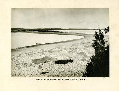 George Bradford Brainerd (American, 1845-1887). West Beach, Prices Bend, Eaton Neck, Long Island, ca. 1872-1887. Collodion silver glass wet plate negative Brooklyn Museum, Brooklyn Museum/Brooklyn Public Library, Brooklyn Collection, 1996.164.2-221