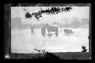 George Bradford Brainerd (American, 1845-1887). A Breakdown, Brooklyn, ca. 1872-1887. Dry negative plate Brooklyn Museum, Brooklyn Museum/Brooklyn Public Library, Brooklyn Collection, 1996.164.2-2238
