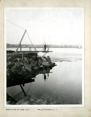 George Bradford Brainerd (American, 1845-1887). North End of Dam, Hallet's Point, Long Island, 1880. Collodion silver glass wet plate negative Brooklyn Museum, Brooklyn Museum/Brooklyn Public Library, Brooklyn Collection, 1996.164.2-241