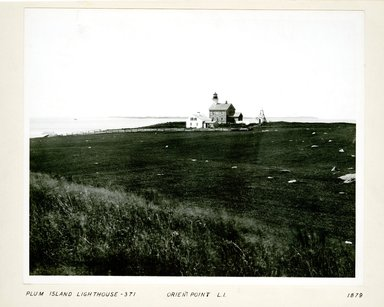 George Bradford Brainerd (American, 1845-1887). Lighthouse, Plum Island, Long Island, 1879. Collodion silver glass wet plate negative Brooklyn Museum, Brooklyn Museum/Brooklyn Public Library, Brooklyn Collection, 1996.164.2-371