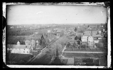George Bradford Brainerd (American, 1845-1887). East on Church Avenue from Ocean Avenue, Flatbush, Brooklyn, ca. 1872-1887. Collodion silver glass wet plate negative Brooklyn Museum, Brooklyn Museum/Brooklyn Public Library, Brooklyn Collection, 1996.164.2-387
