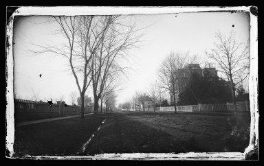 George Bradford Brainerd (American, 1845-1887). Side Street, Flatbush, Brooklyn, ca. 1872-1887. Collodion silver glass wet plate negative Brooklyn Museum, Brooklyn Museum/Brooklyn Public Library, Brooklyn Collection, 1996.164.2-398