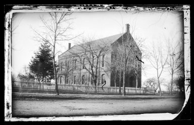 George Bradford Brainerd (American, 1845-1887). Methodist Church, Flatbush, Brooklyn, ca. 1872-1887. Collodion silver glass wet plate negative Brooklyn Museum, Brooklyn Museum/Brooklyn Public Library, Brooklyn Collection, 1996.164.2-417