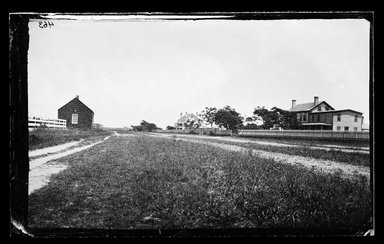 George Bradford Brainerd (American, 1845-1887). Schoolhouse, Quogue, Long Island, ca. 1872-1887. Collodion silver glass wet plate negative Brooklyn Museum, Brooklyn Museum/Brooklyn Public Library, Brooklyn Collection, 1996.164.2-463