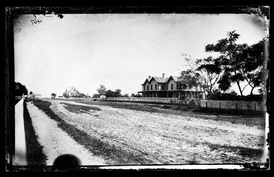 George Bradford Brainerd (American, 1845-1887). Street in Quogue, Long Island, ca. 1872-1887. Collodion silver glass wet plate negative Brooklyn Museum, Brooklyn Museum/Brooklyn Public Library, Brooklyn Collection, 1996.164.2-467