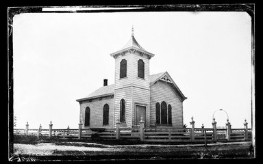 George Bradford Brainerd (American, 1845-1887). Church, Quogue, Long Island, ca. 1872-1887. Collodion silver glass wet plate negative