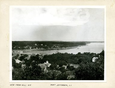 George Bradford Brainerd (American, 1845-1887). View from Hill, Port Jefferson, Long Island, ca. 1872-1887. Collodion silver glass wet plate negative Brooklyn Museum, Brooklyn Museum/Brooklyn Public Library, Brooklyn Collection, 1996.164.2-513