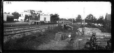 George Bradford Brainerd (American, 1845-1887). Depot, Centerport, Long Island, 1878. Collodion silver glass wet plate negative Brooklyn Museum, Brooklyn Museum/Brooklyn Public Library, Brooklyn Collection, 1996.164.2-587