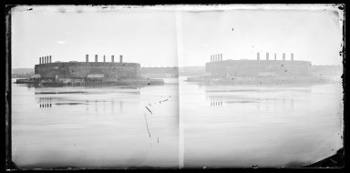 George Bradford Brainerd (American, 1845-1887). Fort Lafayette, Bay Ridge, Brooklyn, ca. 1872-1887. Collodion silver glass wet plate negative Brooklyn Museum, Brooklyn Museum/Brooklyn Public Library, Brooklyn Collection, 1996.164.2-700