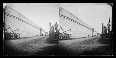 George Bradford Brainerd (American, 1845-1887). Sentry, Fort Hamilton, Brooklyn, ca. 1872-1887. Collodion silver glass wet plate negative Brooklyn Museum, Brooklyn Museum/Brooklyn Public Library, Brooklyn Collection, 1996.164.2-705