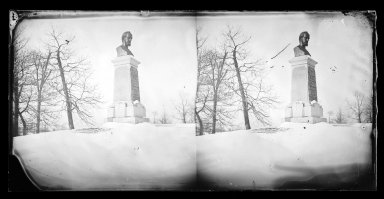 George Bradford Brainerd (American, 1845-1887). Payne's Bust, Prospect Park, Brooklyn, ca. 1872-1887. Collodion silver glass wet plate negative Brooklyn Museum, Brooklyn Museum/Brooklyn Public Library, Brooklyn Collection, 1996.164.2-715