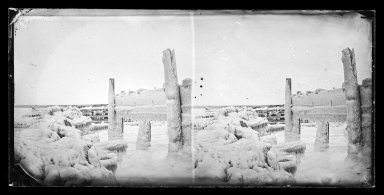 George Bradford Brainerd (American, 1845-1887). Ice View at Hunt's Dock, Bay Ridge, Brooklyn, ca. 1872-1887. Collodion silver glass wet plate negative Brooklyn Museum, Brooklyn Museum/Brooklyn Public Library, Brooklyn Collection, 1996.164.2-724