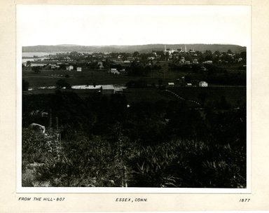 George Bradford Brainerd (American, 1845-1887). View from Hill, Essex, Connecticut, 1877. Collodion silver glass wet plate negative Brooklyn Museum, Brooklyn Museum/Brooklyn Public Library, Brooklyn Collection, 1996.164.2-807