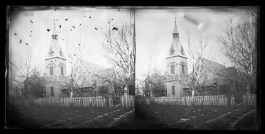 George Bradford Brainerd (American, 1845-1887). Christ Church, Bay Ridge, Brooklyn, ca. 1872-1887. Collodion silver glass wet plate negative Brooklyn Museum, Brooklyn Museum/Brooklyn Public Library, Brooklyn Collection, 1996.164.2-868