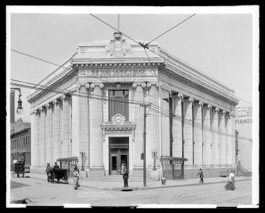 Brooklyn Museum: Dime Savings Bank Building Fleet Street at DeKalb Avenue Brooklyn