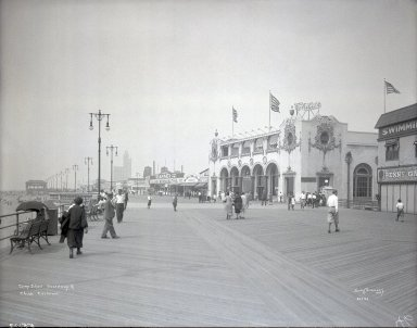 Irving Underhill (American, 1872-1960). Coney Island Boardwalk and Child's Restaurant, 1929. Gelatin dry glass plate negative, 8 x 10 in. (20.3 x 25.4 cm). Brooklyn Museum, Brooklyn Museum/Brooklyn Public Library, Brooklyn Collection, 1996.164.8-B55103. © Estate of Irving Underhill