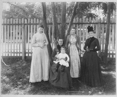 Breading G. Way (American, 1860-1940). Family, Brooklyn, ca. 1888. Cellulose nitrate negative Brooklyn Museum, Brooklyn Museum/Brooklyn Public Library, Brooklyn Collection, 1996.164.9-13