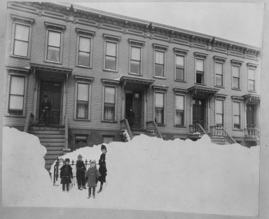 Breading G. Way (American, 1860-1940). Blizzard of March 1888, Brooklyn, ca. 1888. Cellulose nitrate negative Brooklyn Museum, Brooklyn Museum/Brooklyn Public Library, Brooklyn Collection, 1996.164.9-14