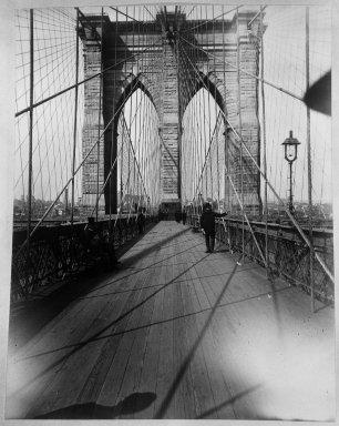 Breading G. Way (American, 1860-1940). East River Bridge, ca. 1888. Cellulose nitrate negative Brooklyn Museum, Brooklyn Museum/Brooklyn Public Library, Brooklyn Collection, 1996.164.9-20