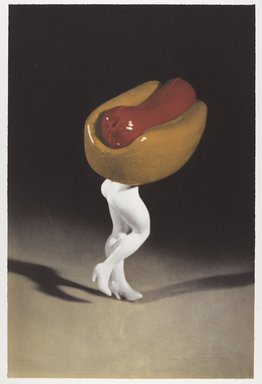 Laurie Simmons (American, born 1949). Hot Dog, 1996. Photogravure on paper, sheet: 28 1/2 x 18 7/8 in. (72.4 x 47.9 cm). Brooklyn Museum, Robert A. Levinson Fund, 1996.189.1. © Laurie Simmons