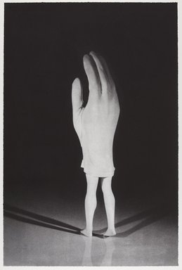 Laurie Simmons (American, born 1949). Walking Glove (from Food Clothing Shelter portfolio), 1996. Photogravure on paper, sheet: 28 1/2 x 18 7/8 in. (72.4 x 47.9 cm). Brooklyn Museum, Robert A. Levinson Fund, 1996.189.3. © Laurie Simmons