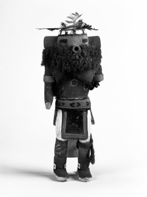 Hopi Pueblo (Native American). Kachina Doll, 20th century. Wood, pigment, feathers, yarn, 7 1/8 x 2 7/8 x 1 3/4in. (18.1 x 7.3 x 4.4cm). Brooklyn Museum, Anonymous gift, 1996.22.6. Creative Commons-BY