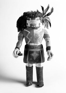 Hopi Pueblo (Native American). Antelope Kachina Doll, 20th century. Wood, pigment, yarn, feathers, 12 3/4 x 6 x 4 3/4 in. (32.4 x 15.2 x 12.1 cm). Brooklyn Museum, Anonymous gift, 1996.22.8. Creative Commons-BY
