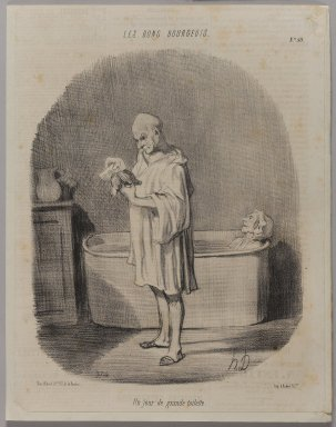 Honoré Daumier (French, 1808-1879). Un Jour de Grande Toilette, August 20, 1847. Lithograph, Other: 12 9/16 x 9 13/16 in. (31.9 x 25 cm). Brooklyn Museum, Gift of Shelley and David Garfinkel, 1996.225.112